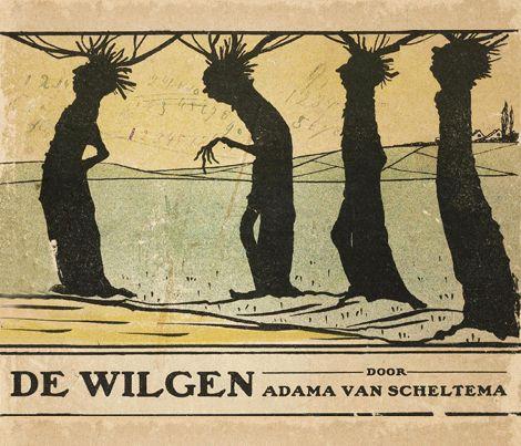 Today's birthday February 26th 1877 : Carel Steven Adama van Scheltema A book for the youth about seven willows- Daar ware' eens zeven wilgen In eene boerenwei, Die droegen groote pruiken op Hun ouden harden houten kop En stonden op een rij. En hunne...