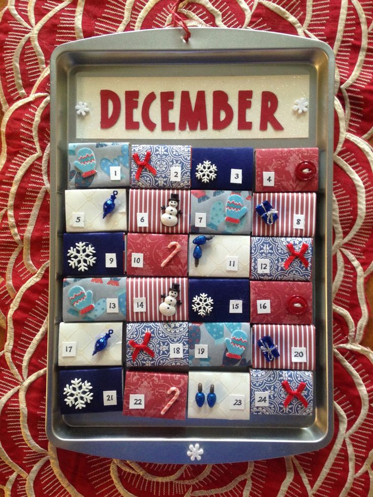 Matchbox Magnetic Cookie Sheet Advent Calendar by TwoCatsCalendars on Etsy https://www.etsy.com/listing/474298600/matchbox-magnetic-cookie-sheet-advent