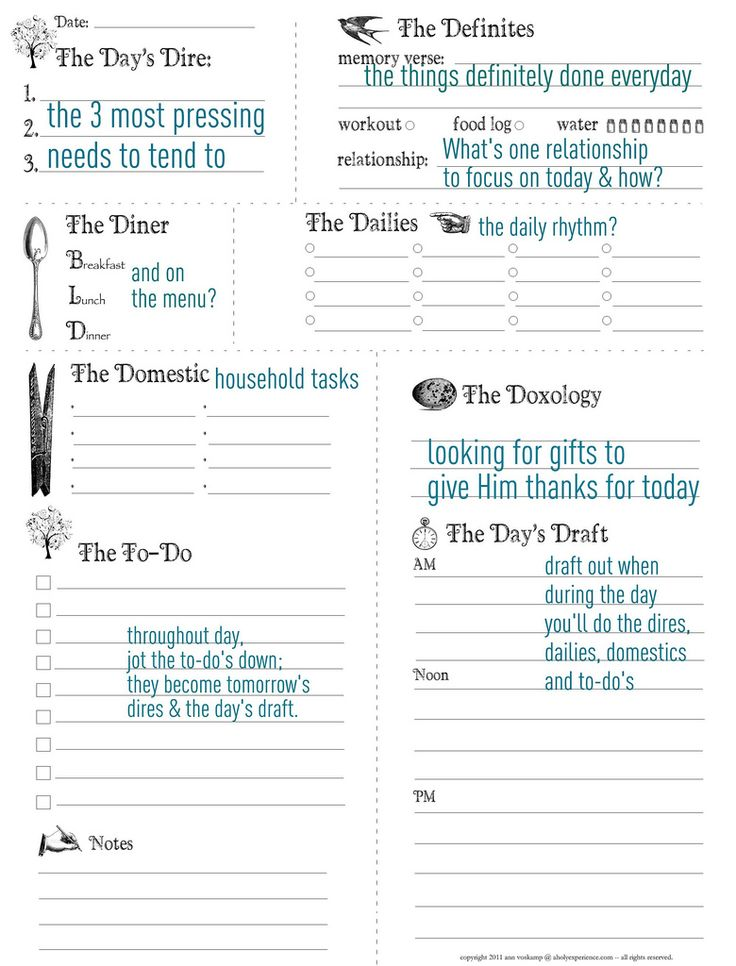 Best 25 Daily planner printable ideas – Daily Planning Template