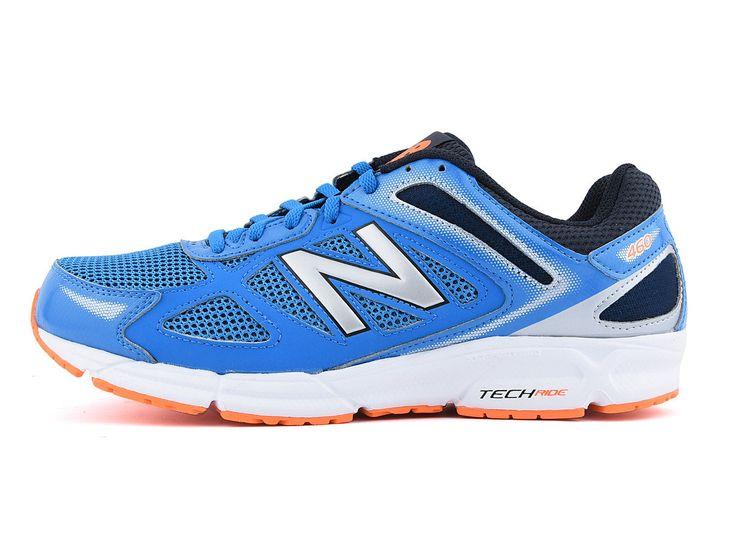 Buty biegowe New Balance, model M460 LS1: niebieskie,  najwyższej jakości materiały tekstylne oraz syntetyczne, buty lekkie, idealne dla biegaczy ze stopą pronującą, początkujących jak i tych średnio-zaawansowanych, do biegania po twardych nawierzchniach.  #butysportowe #butydobiegania #obuwiemęskie #kolekcjaNewBalance