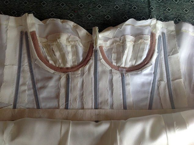 Lovely Sewing a wedding dress Underwires and Boning