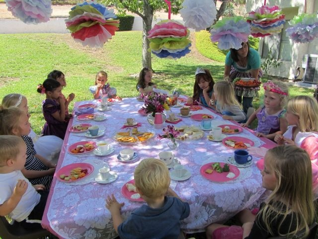 Cute Outdoor Princess Tea Birthday Party