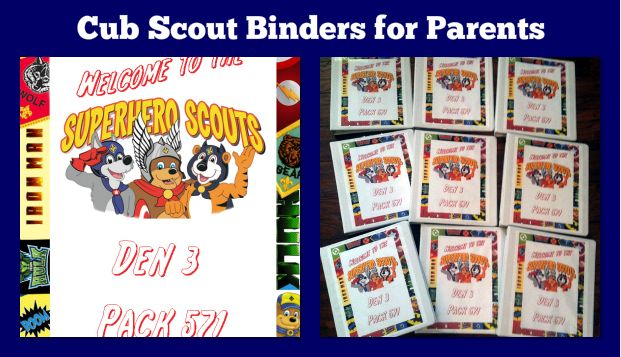Cub Scout Binders for Parents