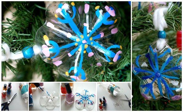 Come riutilizzare le comuni bottiglie di plastica e creare delle bellissime decorazioni natalizie, ghirlande e alberi di Natale, senza spendere denaro e tempo