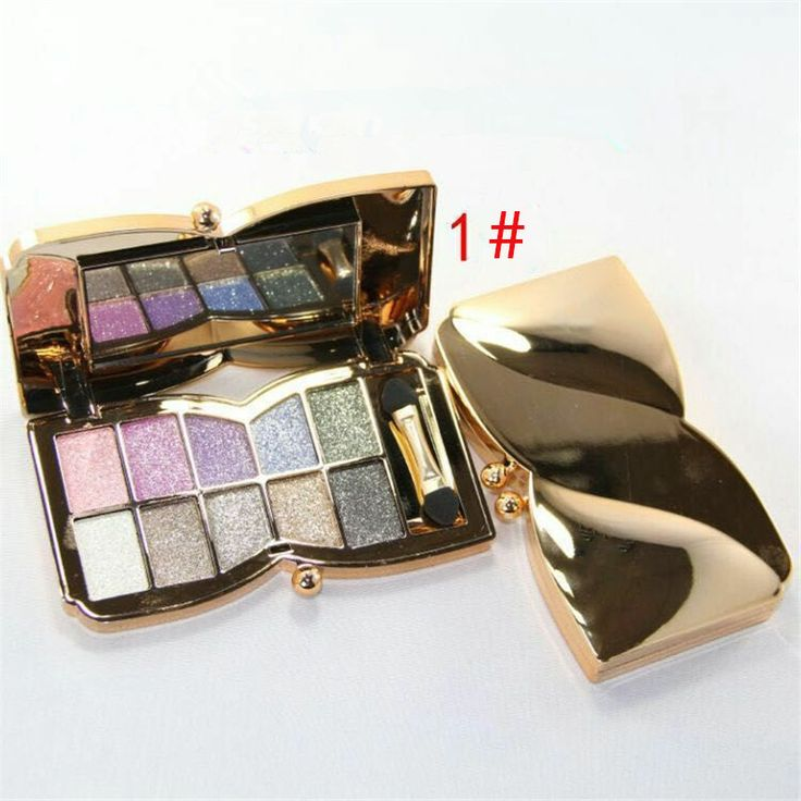 1 set  Pretty Graceful Women Ladies 10-color  Diamond Shine Eye Shadow Palette   Makeup kit 6 Styles You can Choose Best Gift