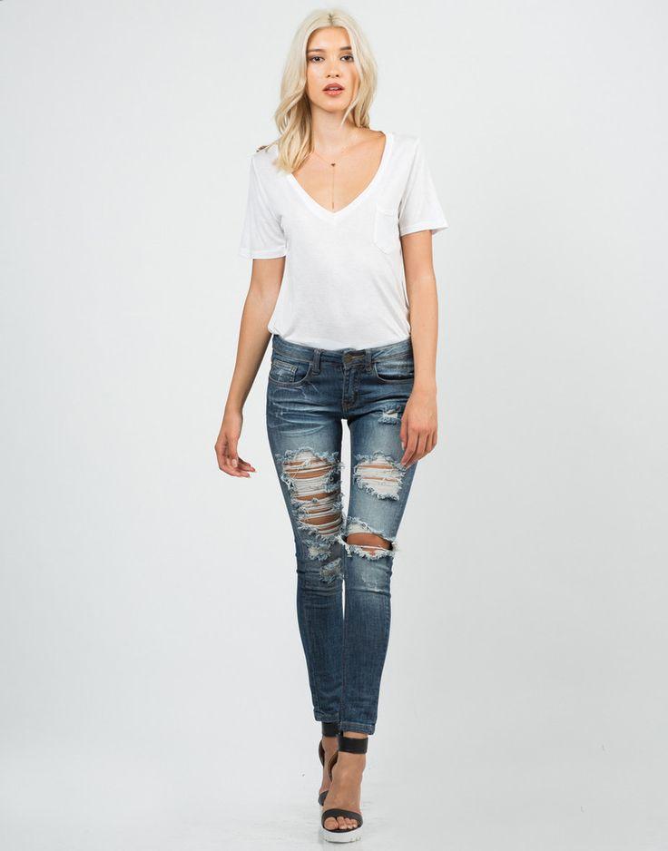 128 best Blue Jeans, White Shirt. images on Pinterest | White ...