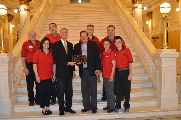 Governor Dennis Daugaard presented the 2016 Governor's Awards to Nyberg's Ace Hardware as an outstanding private employer of people with disabilities.
