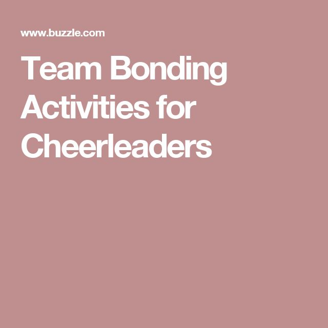 Team Bonding Activities for Cheerleaders