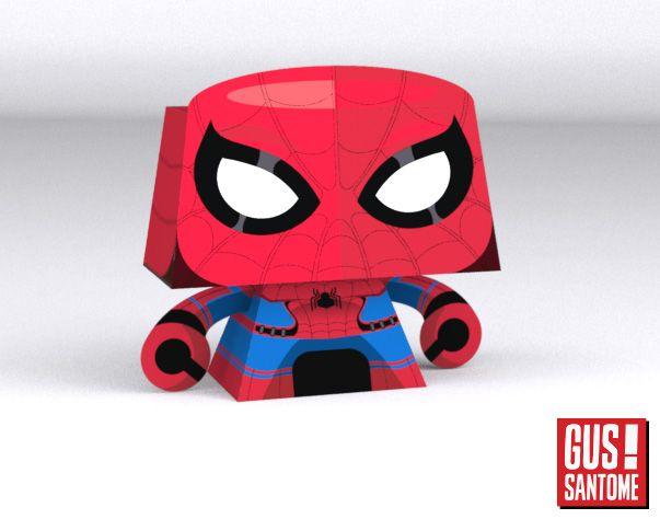 Mini+Papercraft:+Spiderman+Civil+War