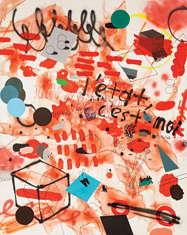L´etat C´est Moi - Volkan Diyaroğlu / tuval üzeri karışık teknik 200 x 160 (1982 yılında İstanbul'da doğdu. Mimar Sinan Güzel Sanatlar Üniversitesi, Güzel Sanatlar Fakültesi Resim Bölümü'nde öğrenim gördükten sonra Promoe Bursu ile Universidad Politecnica de Valencia Facultad de Bellas Artes de San Carlos'tan mezun oldu. 2008'de İspanya'nın en önemli yarışmalarından biri olan Premio de Bancaja'da resim dalında birinciliği elde etti ve eserleri IVAM müzesinde sergilendi. )