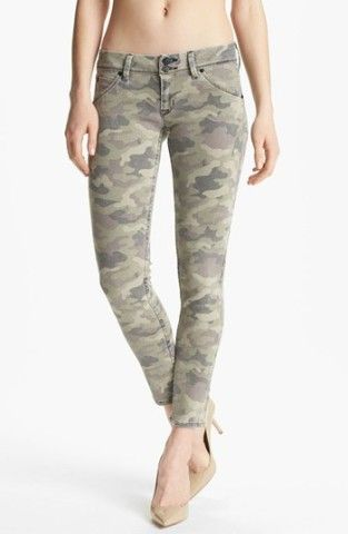 Hudson Jeans 'Collin' Skinny Stretch Jeans (Faded Green) | Nordstrom. Can't pull these off-but I want to