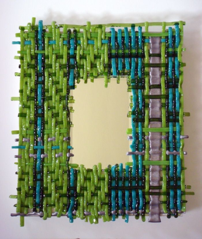 63 best Fused glass mirrors images on Pinterest | Stained glass ...