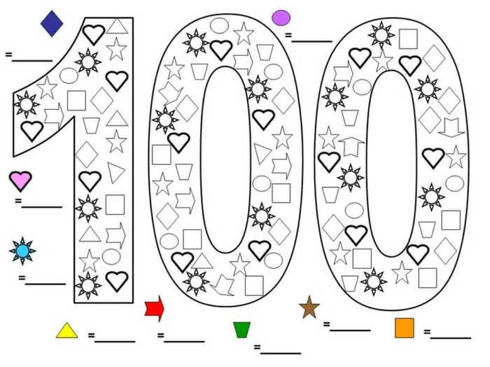 Printable 100 Days Of School Coloring Pages Free Coloring Sheets School Coloring Pages 100 Day Of School Project 100 Days Of School