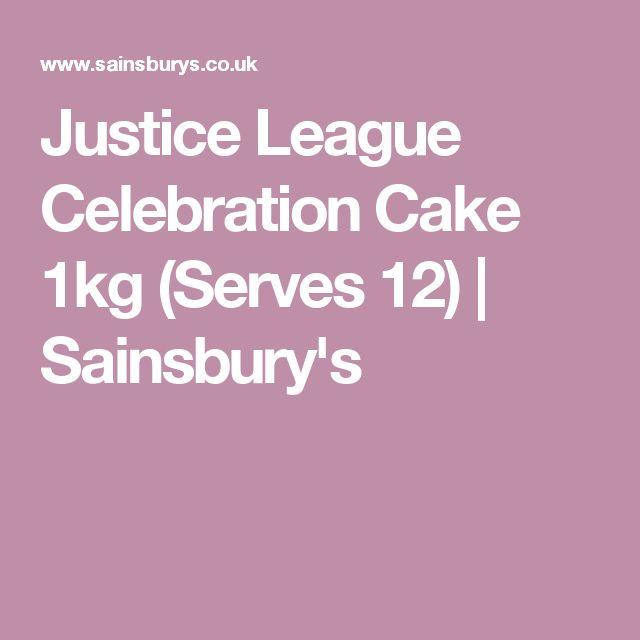 Justice League Celebration Cake 1kg (Serves 12) | Sainsbury's