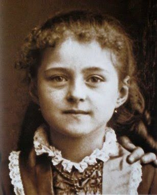 """""""Mother Teresa as a child!  She was the youngest child of Nikola and Drane Bojaxhiu and was originally named 'Agnes Gonxha Bojaxhiu'. Agnes received her first communion at the age of five."""""""
