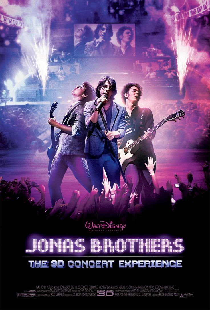 Jonas Brothers: The 3D Concert Experience , starring Nick Jonas, Joe Jonas, Kevin Jonas, John Taylor. A 3-D concert film of the 2008 Jonas Brothers 'Burning Up' concert tour, as well as documentary footage on the lives of the three brothers. #Documentary #Music