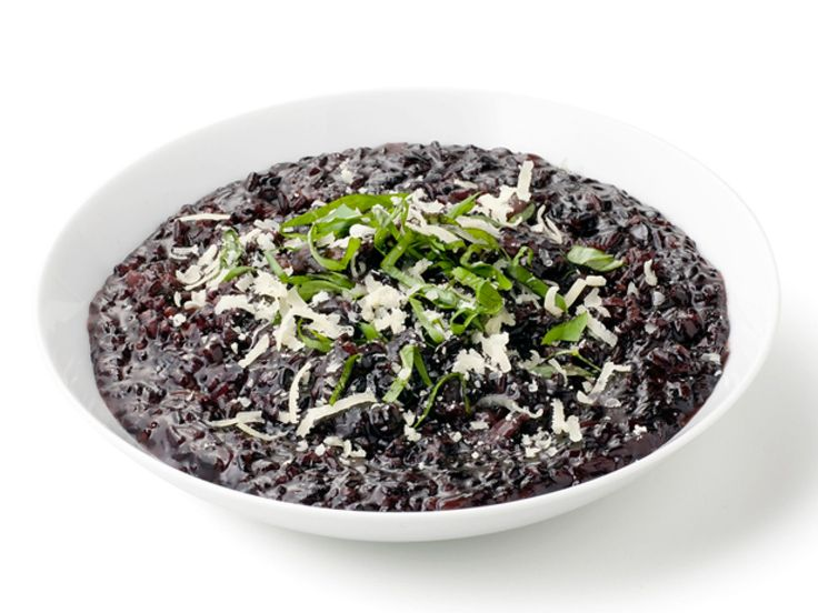 Black Rice Risotto : Black rice has the same antioxidants as blueberries. The grain is loaded with anthocyanin, the antioxidant responsible for the inky blue color of blueberries and acai, and it has a toasted nutty flavor