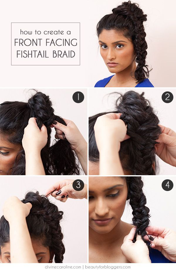 Keep the focus on your gorgeous face with this flipped-to-the-front braided hairstyle! #braid #hair #hairstyle #fishtail