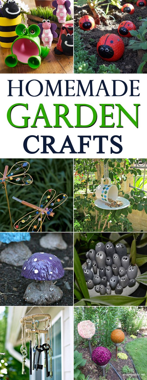 Homemade garden ideas - 16 Homemade Garden Crafts You Will Love