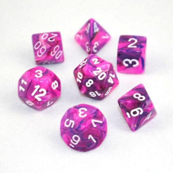 Chessex CHX 27457 Festive Violet//white Polyhedral 7-Die Set