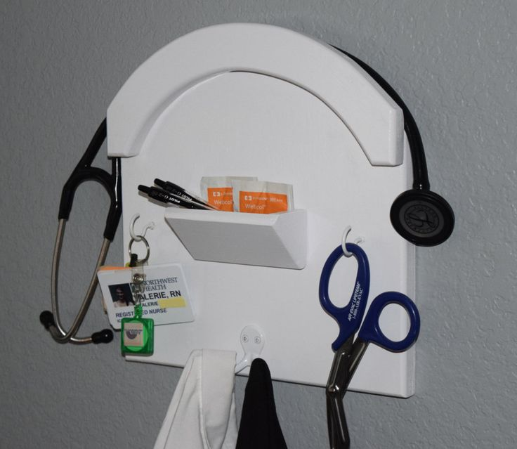 Stethoscope Holder and Storage - Nurse and Doctor wall supply storage - NurseKeeper - The best way to store your stethoscope and badge by NurseKeeper on Etsy https://www.etsy.com/listing/232475176/stethoscope-holder-and-storage-nurse-and