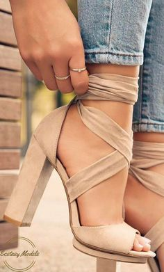 Shoes, heels, sandals nude, tan /lolashoetique/