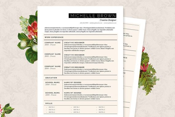 Grid Resume & Cover Letter Template  Clean by JannaLynnCreative
