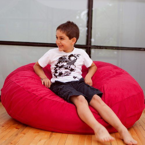 Whether they're using it to cuddle with their stuffed animals or make a crash landing, the Jaxx Cocoon Jr. Bean Bag makes a great addition to any kids room. This round bag is made from cushiony foam and a lush micro suede cover that zips off for easy machine-washing, meaning it's a... more details available at https://furniture.bestselleroutlets.com/game-recreation-room-furniture/bean-bags/product-review-for-jaxx-cocoon-jr-kids-bean-microsuede-bag-4-cherry/
