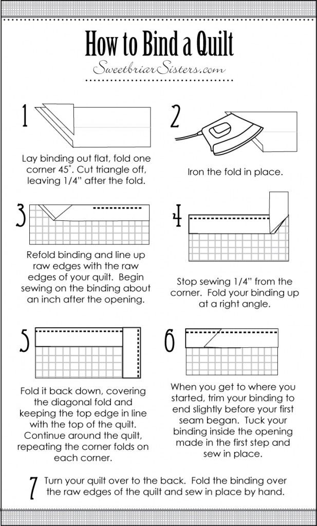 "How to Bind a Quilt - PERFECT directions! Just adjust 1/4"" to"