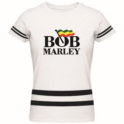 Bob Marley Reggae Rasta Ladie's T Shirt Women Shirts Summer Style Short Sleeve Tees Custom Crop Tops Tees Plus Size