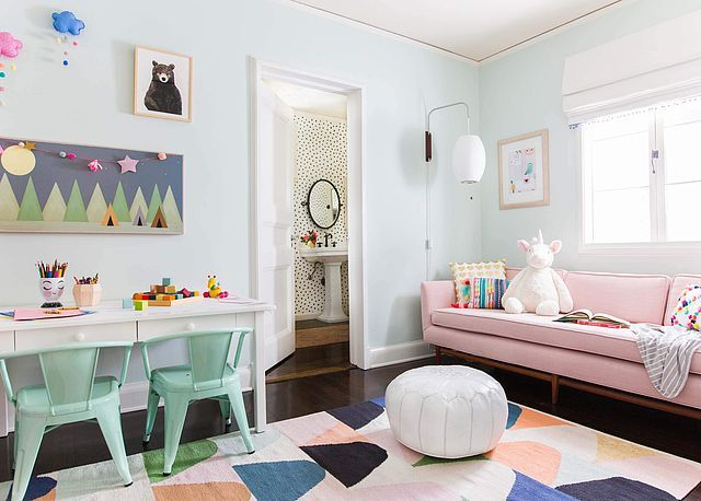 A Playful and Bright Playroom Reveal | Emily Henderson | Bloglovin'
