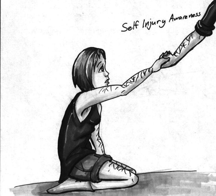 22 best self harm drawing images on Pinterest | Depressing ...