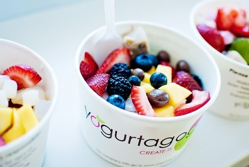 Frozen Yogourt   - more here: http://pinned-recipes.com: Homemade Recipes, Frozen Yogurt, Dinners Recipes, Healthy Choice, Fruit Cups, Mouths Water, Healthy Recipes, Frozen Yogourt, Fresh Fruit