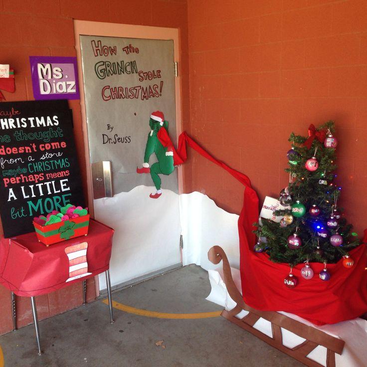 How The Grinch Stole Christmas Door. Read Across America