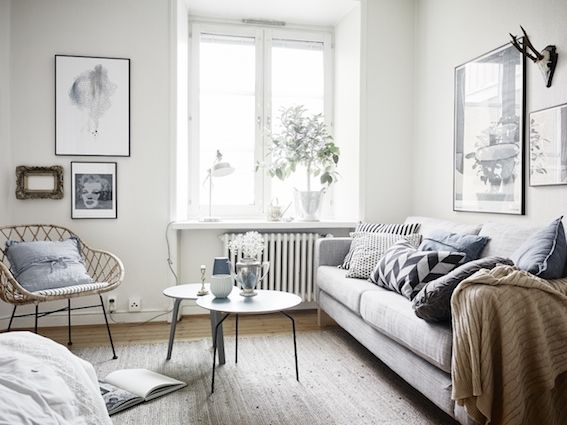 my scandinavian home: A small space in Gothenburg in neutrals