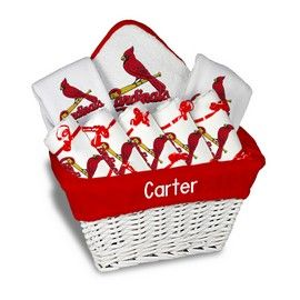 8 best personalized baby gifts for st louis cardinals fans images louis cardinals large basket a 9 items st louis cardinals at personalized gifts for babies and big kids at designs by chad and jake negle Images