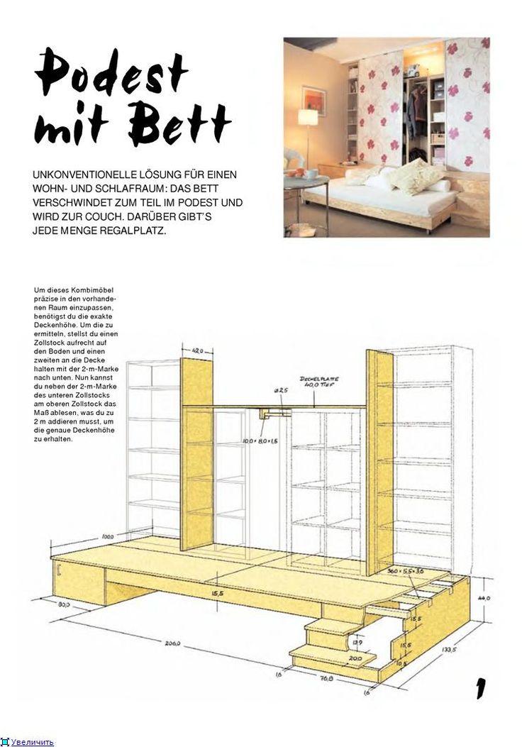 Три в одном: шкаф платяной, книжный шкаф и диван-кровать