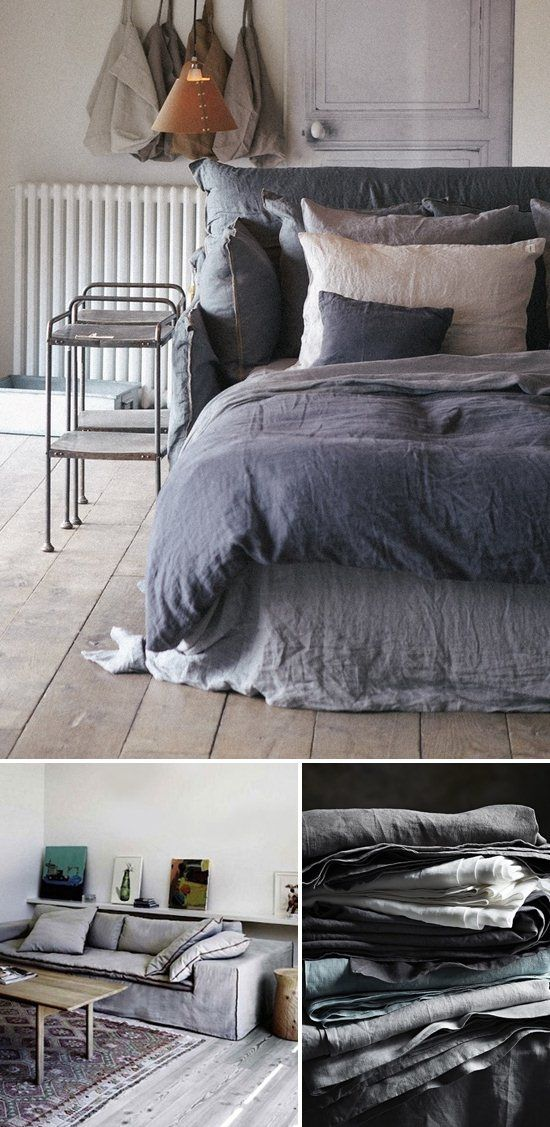 Cozy Interiors Designed with Linen for Fall