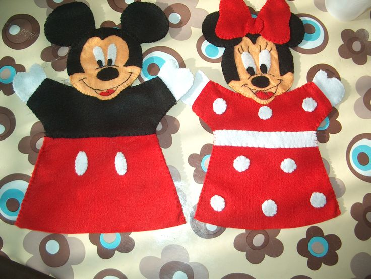 puppets disney minnie and mickey mouse