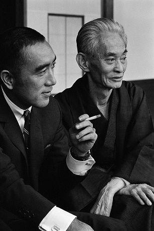 Yukio Mishima and Yasunari Kawabata