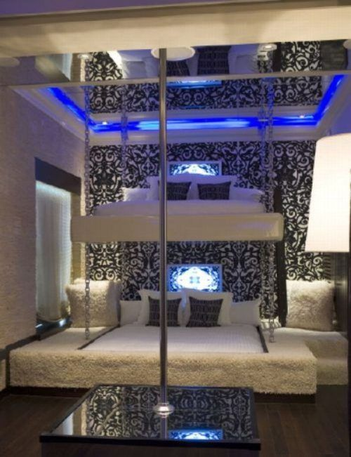 Best Bedroom Ever, Amazing Bunk Beds And A Stripper Pole