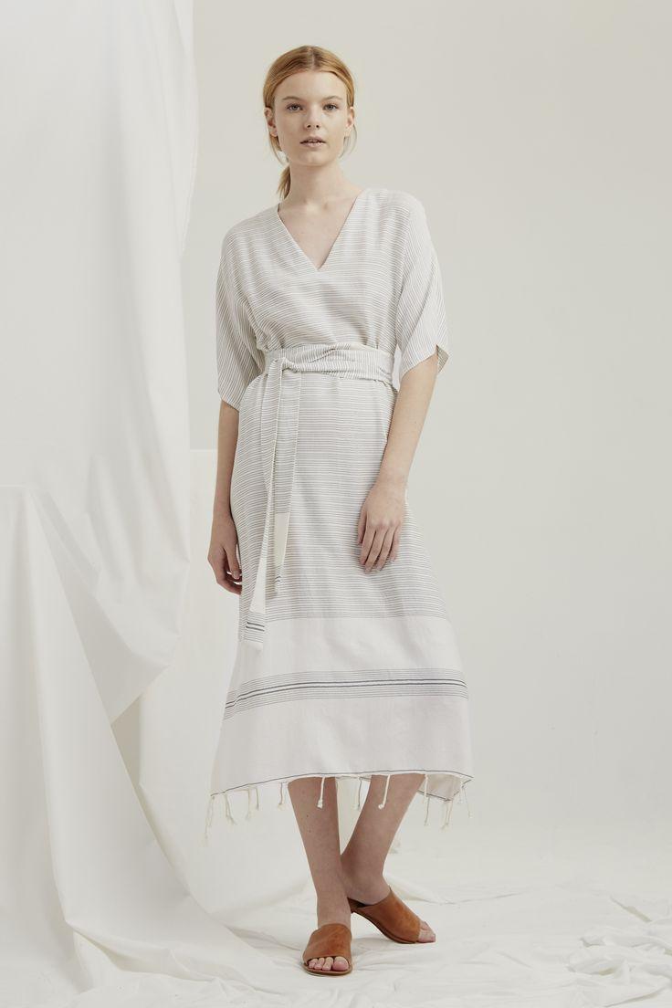 Kyoto Dress - Natural Turkish Weave