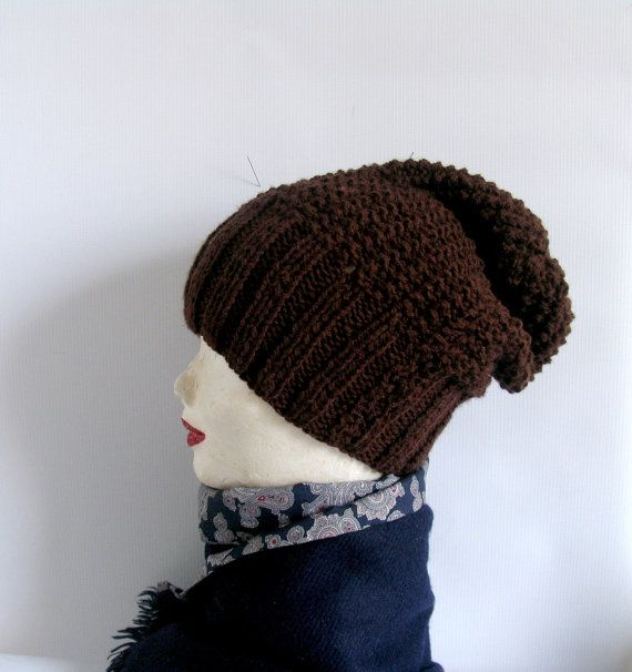 Knitted dreadlock hat warm baggy beanie by recyclingroom on Etsy, $32.00