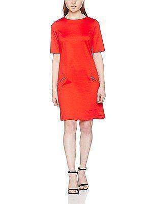 10, Orange (Coral), Wallis Petite Women's Ponte Dress NEW