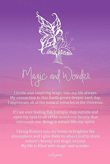 Affirmation - Magic and Wonder by CarlyMarie                                                                                                                                                                                 More