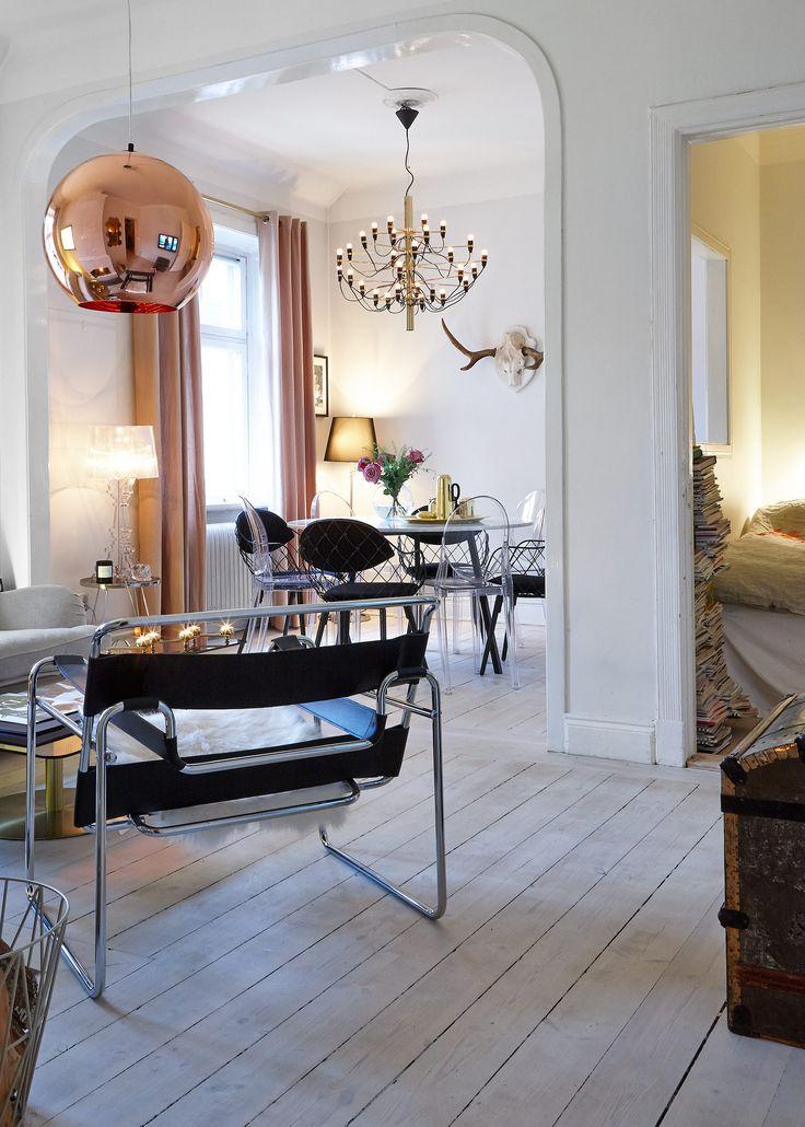 Mässing och marmor hemma hos moderedaktör Petra Tungården - Sköna hem