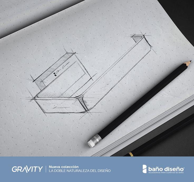 #Diseño del #portarrollos de la nueva colección Gravity, que combina líneas rectas y curvas, creando una sensación de #movimiento.