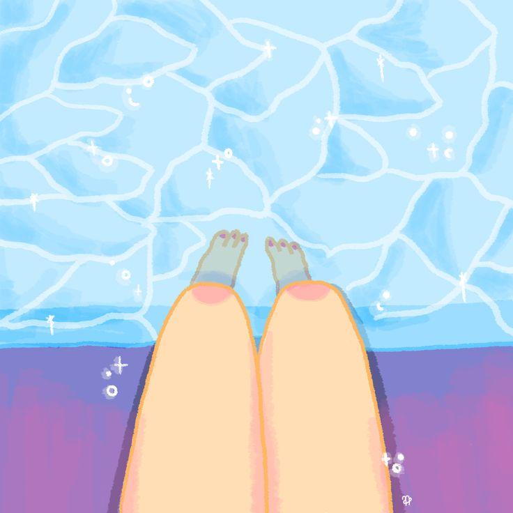✧ N A U T A ✧ #nauta #nauta1992 #adobe #photoshop #wacom #illustration #ilustración #dibujo #fluor #pastel #color #cosmos #space #galaxy #universe #harajuku #legs #pool #water
