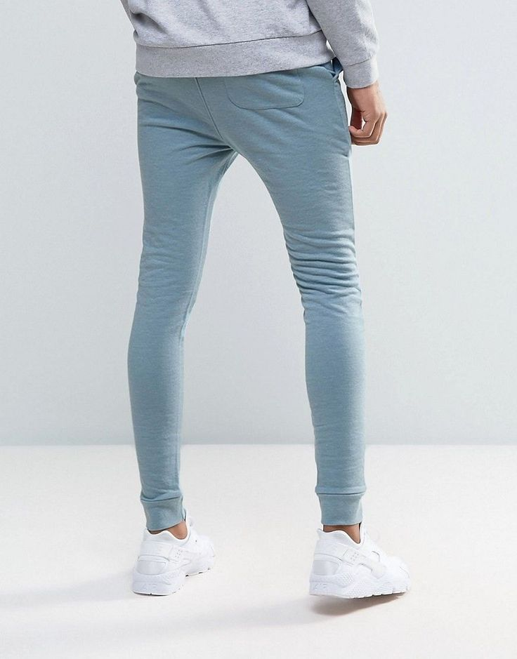 ASOS TALL Super Skinny Joggers In Blue - Blue