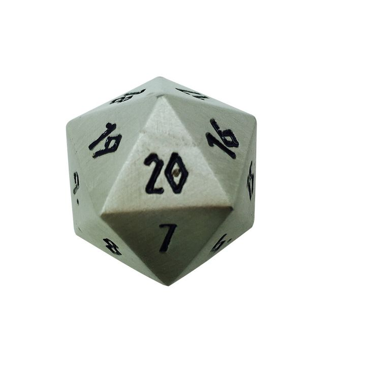 Norse Foundry 25mm Aged Mithiral Countdown Dice #Magic #MTG #RPG #DND